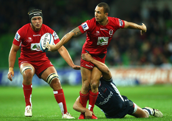 Quade Cooper Pictures - Super Rugby Rd 12 - Rebels v Reds ... Quade Cooper Step
