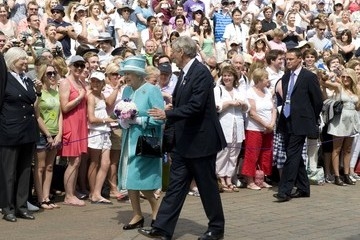 Tim Phillips The Queen Attends The All England Tennis Championships At Wimbledon