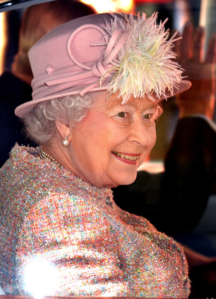Queen Elizabeth II leaves a reception at Waterman's Hall in the City of London, to celebrate the 800th anniversary of the Royal Watermen on March 27, 2014 in London, England.