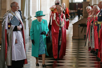Queen Elizabeth II The Queen and the Duke of Edinburgh Attend a Service at St Paul's Cathedral to Mark the Centenary of the Order of the British Empire