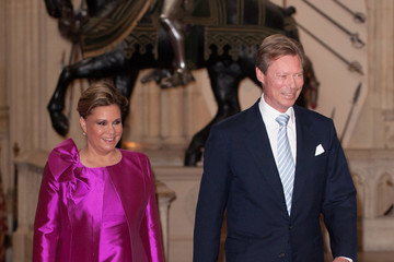 Grand Duchess of Luxembourg Queen Elizabeth II Accompanied By The Duke Of Edinburgh Holds A Lunch For Sovereign Monarchs