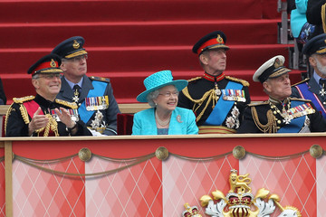 Duke of Edinburg Queen Elizabeth II Attends The Armed Forces Parade And Muster