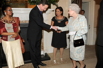 Kamla Persad-Bissessar Queen Elizabeth II Attends The Commonwealth Day Observance At Westminster Abbey