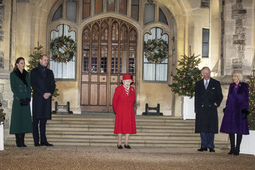 Queen Elizabeth II Camilla Parker Bowles Members Of The Royal Family Thank Volunteers And Key Workers At Windsor Castle