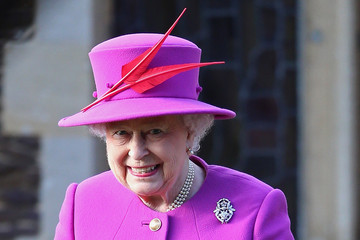 Queen Elizabeth II The Royal Family Attend Church On Christmas Day