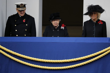 Queen Elizabeth II Remembrance Sunday Is Observed Around the UK