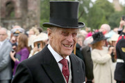 Prince Philip, Duke of Edinburgh attends the annual garden party at the Palace of Holyroodhouse on July 4, 2017  in Edinburgh, Scotland.