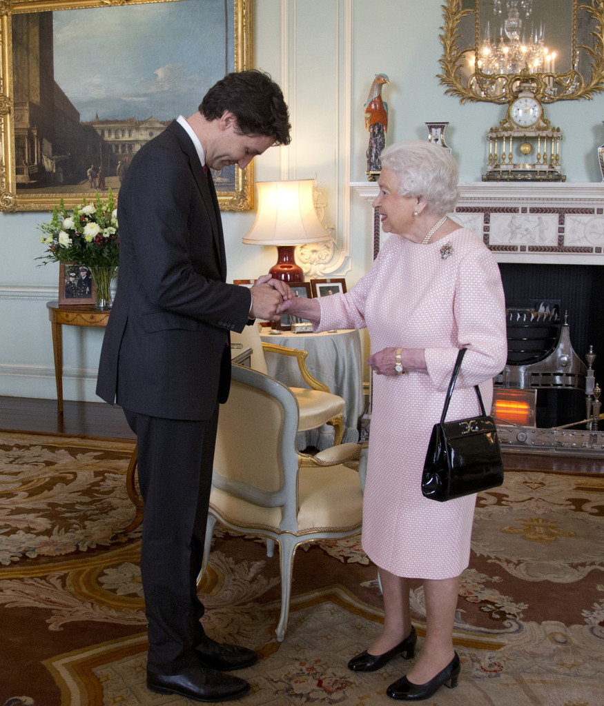 Queen Elizabeth Ii Meets Canadian Prime Minister Justin