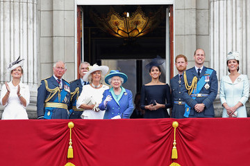 Queen Elizabeth II Meghan Markle Members Of The Royal Family Attend Events To Mark The Centenary Of The RAF