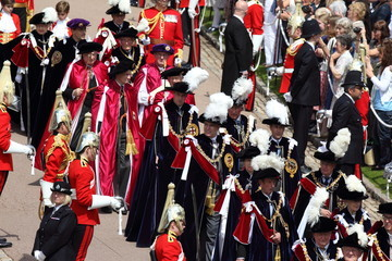 Queen Elizabeth II Princess Anne Queen Elizabeth II and Members Of The Royal Family Attend The Order Of The Garter Service