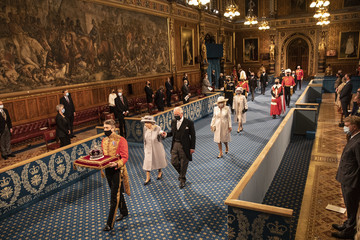 Queen Elizabeth II Prince Charles State Opening Of Parliament 2021