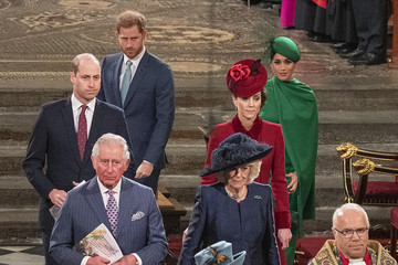 Queen Elizabeth II Prince Charles Commonwealth Day Service 2020