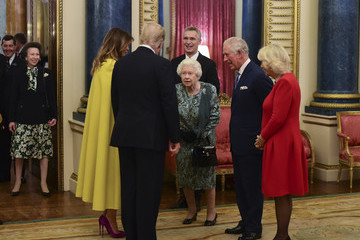 Queen Elizabeth II Prince Charles HM The Queen Hosts NATO Leaders At Buckingham Palace Banquet