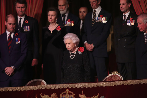 The Royal Family Attend The Festival Of Remembrance [the royal family attend the festival of remembrance,event,official,ceremony,military officer,elizabeth ii,anne,michael,members,charles,princess royal,prince of wales,kent,royal british legion festival of remembrance]