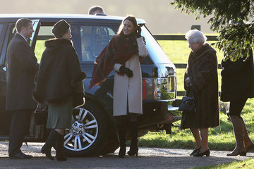 Queen Elizabeth II Princess Anne The Royal Family Attends Christmas Day Service
