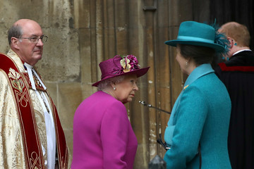 Queen Elizabeth II Princess Anne The Royal Family Attend Easter Service At St George's Chapel, Windsor
