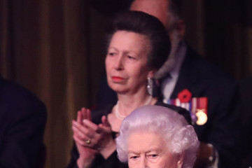 Queen Elizabeth II Princess Anne The Royal Family Attend The Festival Of Remembrance