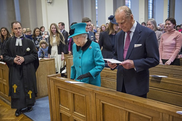 Image result for queen elizabeth goes to church