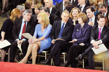 Gordon Brown Nick Clegg Queen Elizabeth II Receives The Addresses From Both Houses Of Parliament