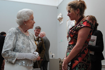 Queen Elizabeth II Tracey Emin Queen Elizabeth II Visits The Royal Academy Of Arts