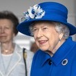 Queen Elizabeth II The Queen And The Princess Royal Visit The Childrens Wood, Glasgow
