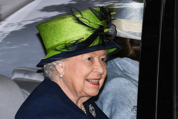 Queen Elizabeth II The Royal Family Attend Crathie Church