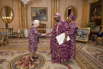Queen Elizabeth II Private Audience With the Queen at Buckingham Palace