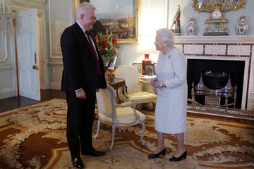 Queen Elizabeth II The Queen Receives First Minister of Wales Carwyn Jones