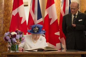 Queen Elizabeth II The Queen and Duke Of Edinburgh Visits Canada House