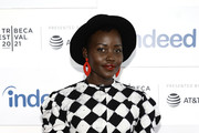 """Lupita Nyong'o attends the """"Queen Of Glory"""" premiere during the 2021 Tribeca Festival at Pier 76 on June 15, 2021 in New York City."""