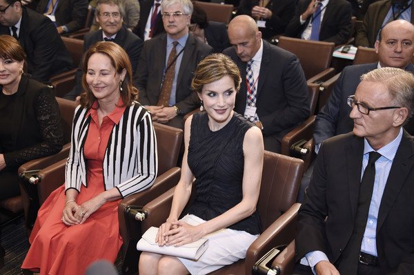 Queen Letizia of Spain Attends The Second Global Conference on Health and Climate In Paris [letizia,segolene royal,environment minister,junior minister for development,hakima,el haite,event,audience,official,student,tourism,crowd,spain attends the second global conference on health and climate,paris,french,spain]