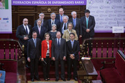 Alfonso (L) Alonso, Queen Letizia of Spain (2ndL) and Pio Garcia-Escudero (3rd L)attend the Rare Diseases World Day ceremony at Spanish Senate on March 5, 2015 in Madrid, Spain.