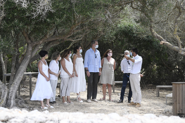 Spanish Royals Visit Menorca [photograph,event,ceremony,wedding,tree,photography,dress,bride,family,gesture,consell insular de menorca susana mora,letizia,fernando grande marlaska,francina armengol,l-r,menorca,spain,spanish,royals,visit,photograph,wedding,plantation,recreation,tree]