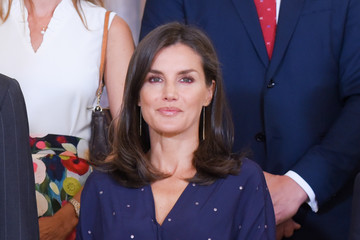 Queen Letizia of Spain King Felipe of Spain Spanish Royals Attend Audiences At Zarzuela Palace