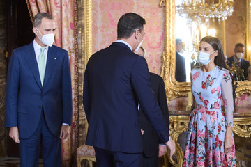 Queen Letizia of Spain King Felipe VI of Spain Spanish Royals Host A Lunch For Secretary-General of the United Nations, Antonio Guterres