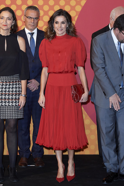 Queen Letizia Of Spain Attends National Fashion Awards