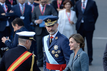 Queen Letizia Spanish Royals Attend the National Day Military Parade