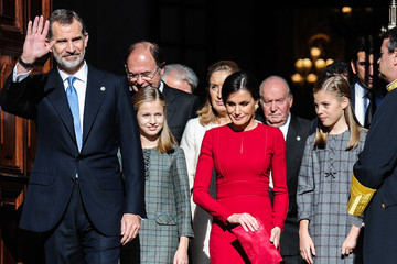 Queen Letizia Spain Celebrates Forty Years Of Their Constitution