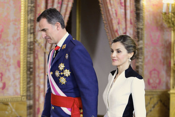 Queen Letizia of Spain Spanish Royals Attend the Armed Forces Day Hommage Reception