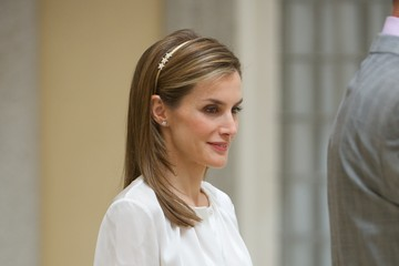 Queen Letizia of Spain Spanish Royals Receives 'Ruta Quetzal BBVA' Youth Group