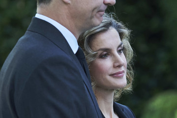 Queen Letizia of Spain Spanish Royals Sign Book of Condolences at US Embassy