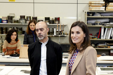 Queen Letizia of Spain Queen Letizia Of Spain Visits The School Of Engraving And Design of Spain's Mint (Real House of Currency)