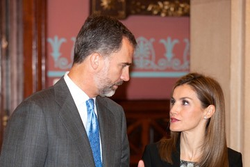 Queen Letizia of Spain 23rd Edition of the Spanish Language's Dictionary Presentation