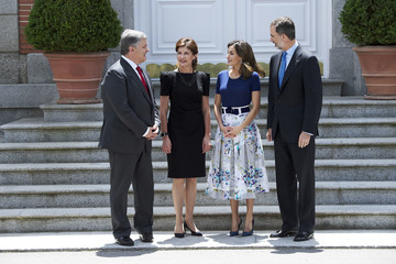 Queen Letizia of Spain Spanish Royals Host An Official Lunch for President Of Ukraine And His Wife At Zarzuela Palace