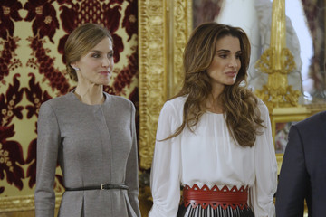 Queen Letizia of Spain Spanish Royals Host a Official Lunch For Jordan Royals