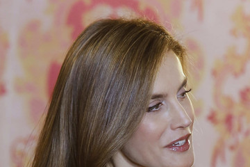 Queen Letizia of Spain Spanish Royals Host a Lunch for Literature World Members