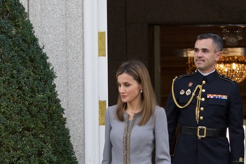 Queen Letizia of Spain Spanish Royals and Michelle Bachelet's Official Lunch