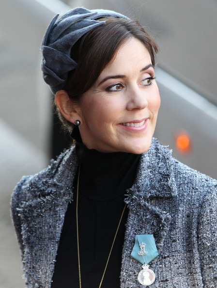Princess Mary of Denmark arrives for the official reception to celebrate Queen Margrethe II of Denmark's 40 years on the throne at City Hall on January 14, 2012 in Copenhagen, Denmark.
