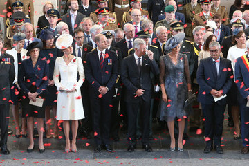 Queen Mathilde Members Of The Royal Family Attend The Passchendaele Commemorations In Belgium