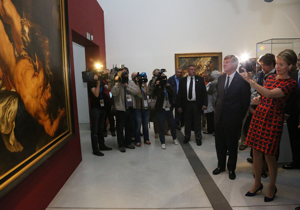 Queen Mathilde Visits the Louvre-Lens Museum [mathilde of belgium visits the exhibition : the europe of rubens,art gallery,museum,event,tourist attraction,exhibition,art exhibition,art,vernissage,visual arts,stock photography,queen,mathilde of belgium,louvre-lens museum,europe of rubens,lens,france,exhibition]